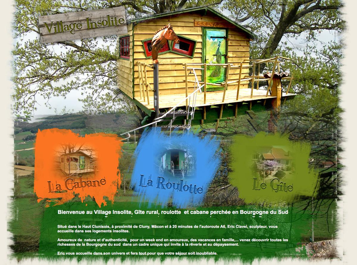 village insolite – gite, roulotte et cabane dans les arbres proche